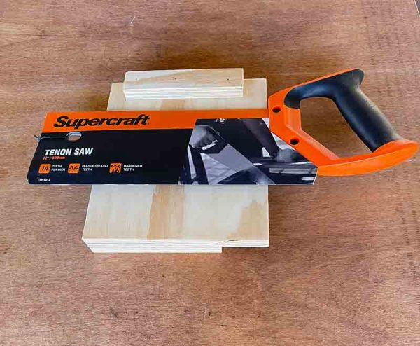 Starter Tool Kit includes brand new Tenon saw and handmade bench hook. Patt Gregory woodworking workshops Mullumbimby Australia.